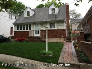 Beautiful 4 bedroom, 1 1/2 bath cape, finished basement with kitchen. All hardwood floors throughout. Beautiful block. Close to Verrazano. Must see! Won't last!