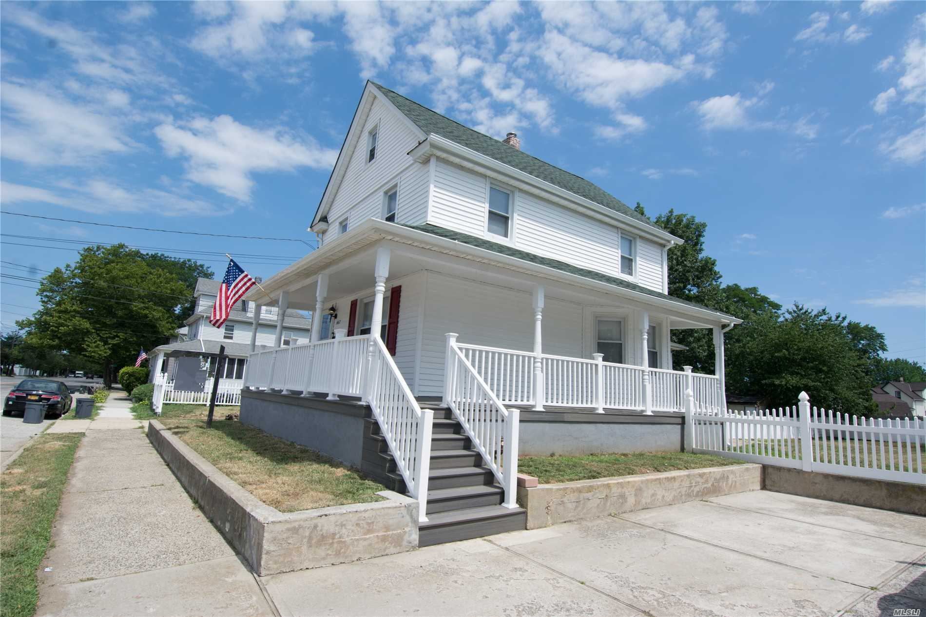 $2, 000 Credit To Buyer If In Contract By 8/31/18. Charming Vintage Colonial With Brand New Wrap-Around Porch On A 60X138 Lot Featuring Living Room, Formal Dining Room, Kitchen With New Appliances, Laundry Room/Mudroom Includes New Washer/Dryer On First Floor. Three Bedrooms And A Newly Updated Full Bath On Second Floor. Walk-Up Finished Granny Attic. Pvc Fenced-In Huge Backyard With Large Shed. One Year Old Roof. 200 Amp. Turn Key Home In An Award Winning School District. Low Taxes. A Must See!