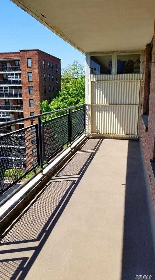 Lovely, Very Bright, Well-Kept 1-Bedroom Coop With Good Closet Space. Approx. 660 Square Feet Not Incl. 22' Balcony (See Floor Plan). Ex Large Living Room And Bedroom. Only 5 Blocks To 7 Train! Modern Elevator Bldg With Great Security. Monthly Maint. Incl's All Except A/C. 2-6 Mo Waitlist Parking (100 Per Mo For Garage, 68 For Outdoor Space, 64 For Motorcycle). 3X5X6' Caged Storage Space Available For 10 Per Month. Large, Clean Laundry In Bsmt. Dogs And Cats Allowed With Approval.