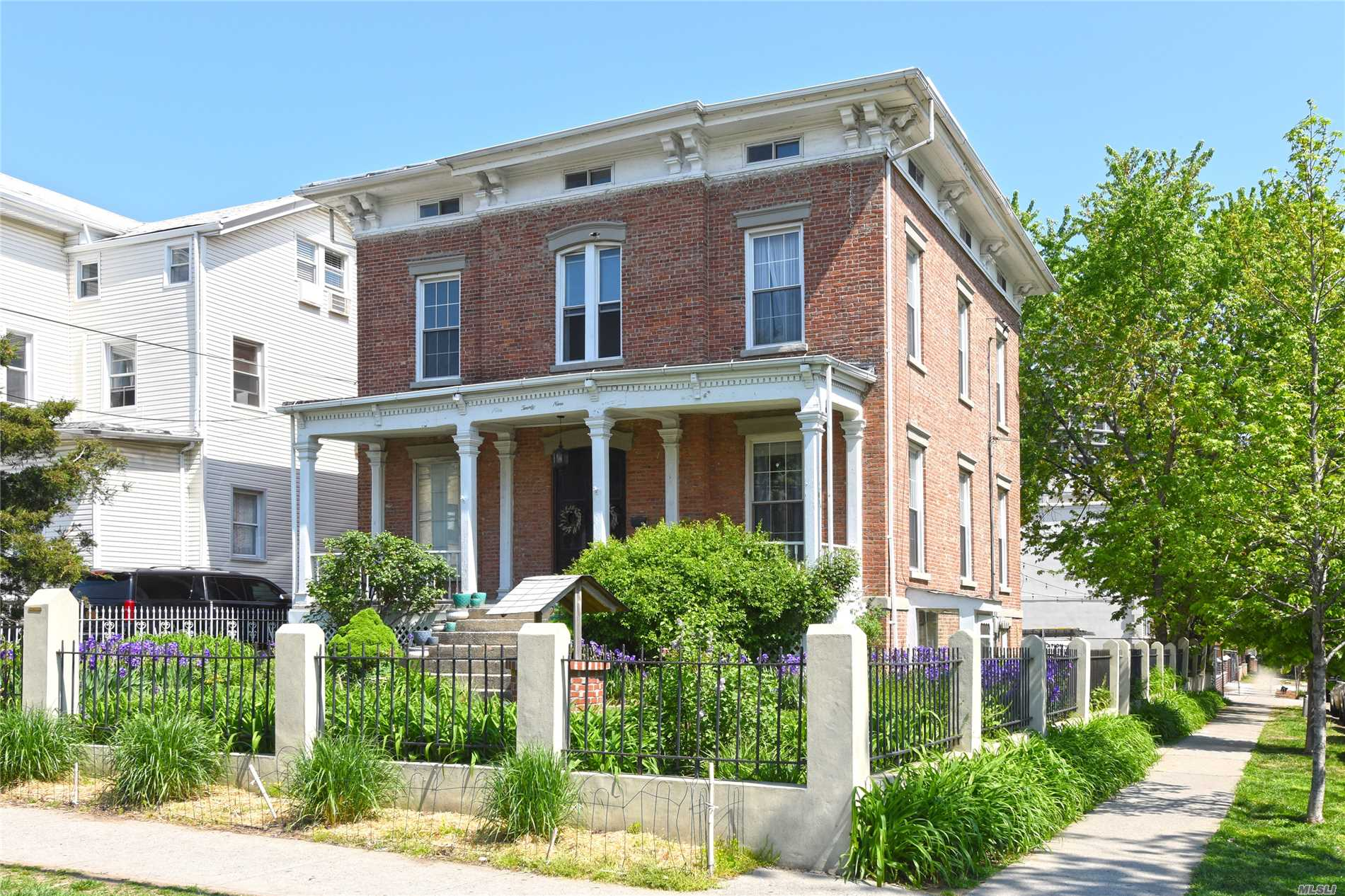 Live In This Historic Mansion On The First Floor, Complete With Ballroom And Marble Fireplace. This Historic Home Built In 1827 Has Secret Tunnel To The River As Part Of The Underground Railroad. 2 Bedrooms And 1 1/2 Baths With Laundry In The Half Bath. Huge Eat In Kitchen And Use Of Landscaped Backyard With Gardens, Fire Pit And Eating Area. This Is A Dream That Could Be Your Reality!