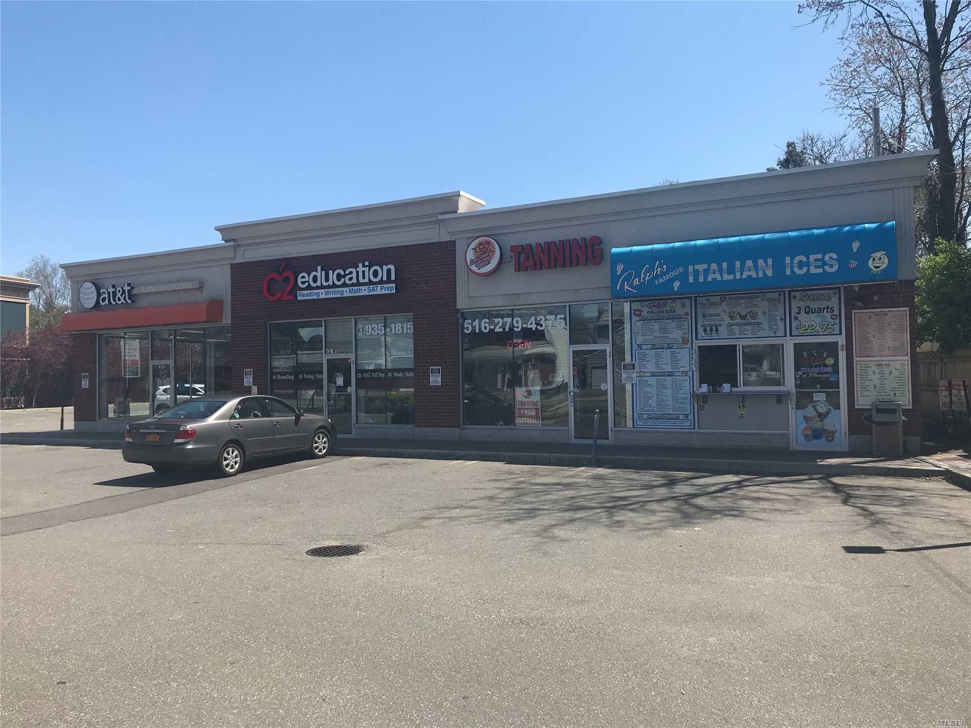 Great Space In Shopping Center Located Directly On Old Country Road. Plenty Of Parking. High Ceilings, 2 Bathrooms, Possible Extra Outdoor Space As Well. Perfect For Dance Studio, Day Care, Exercise Or Cross Fit Among Others.