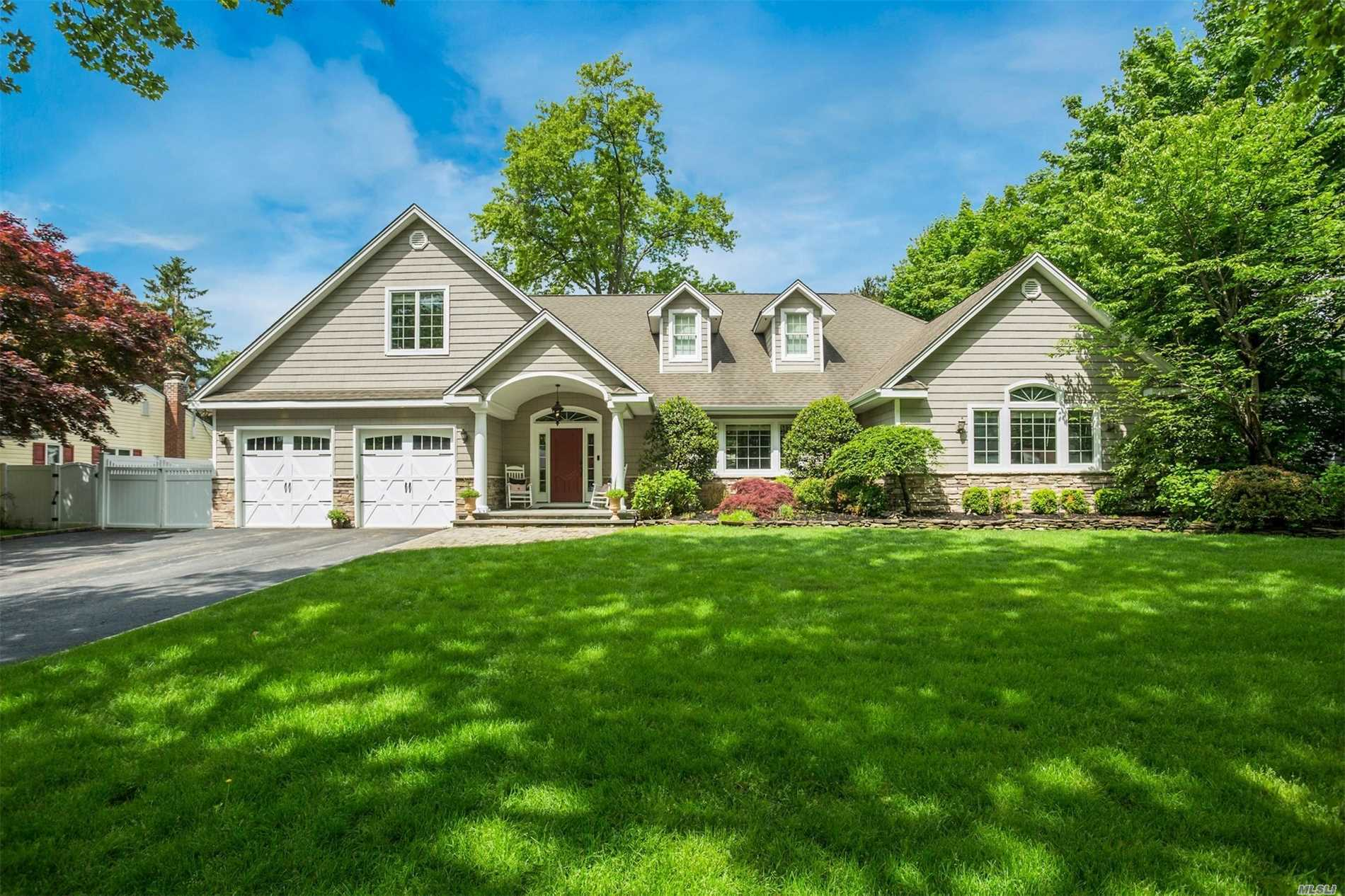 Diamond Custom Open Concept Colonial In Harborfields Sd, Beautiful French Contemporary Kitchen, Granite, Prof. Grade Ss Appliances, Stone Wood Burning Fp. Picturesque Backyard Oasis With An Ig Salt Water Pool, Pave Patio And Beautiful Lush Grounds. Must See!!
