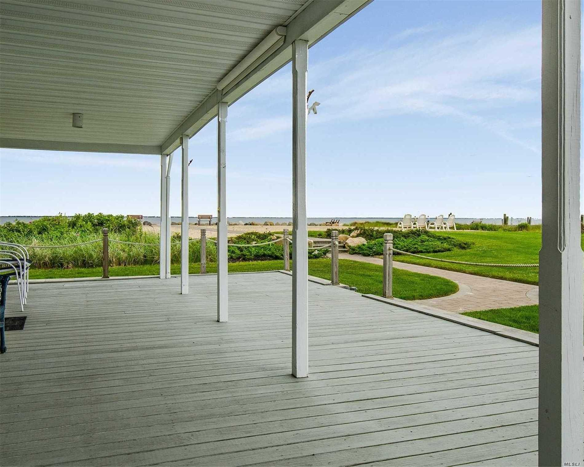 Deal Died. Price Change.  One Of A Kind. Beautiful 1 Bedroom Coop In South Sayville. Private Community. Beach Front Living All Year Round. Breath Taking Water Views, Enjoy Sunrises, Sunsets & Bay Breezes. Living Area/Kitchen Combo, Open Floor Plan. All Updated. Deck Faces West With Expansive Views Of The Bay & Marina. Maintenance Includes - Taxes, Heat & Water