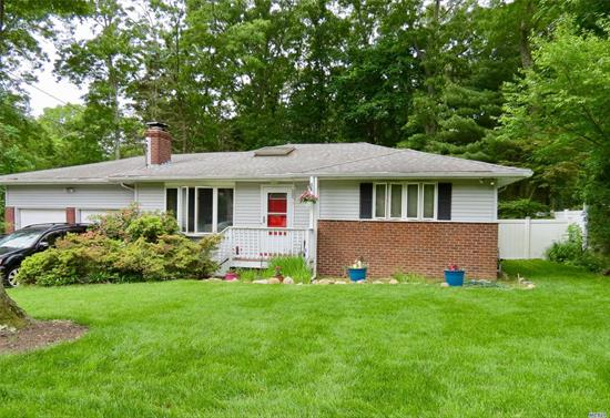 Charming Ranch On An Oversized Manicured Lot With Sod In The Front Yard, Vegetable Garden, Backyard Patio. Nice And Bright Freshly Painted Throughout! Eik W/ Ss Appliances, Living Room With Fireplace W/ Insert, Wood Floors, Newer Roof. Back Lot Is Included In The Sale That Backs Up To Cheemaun Trail - Sctm: 0200-151.00-01.00-015.00. Lot Sqft Is 7841. Taxes For Additional Lot Add $573.67. Lots Together Total .36 Acre! Perfect For First Time Buyers, Down Sizing, Or Vacation Getaway!