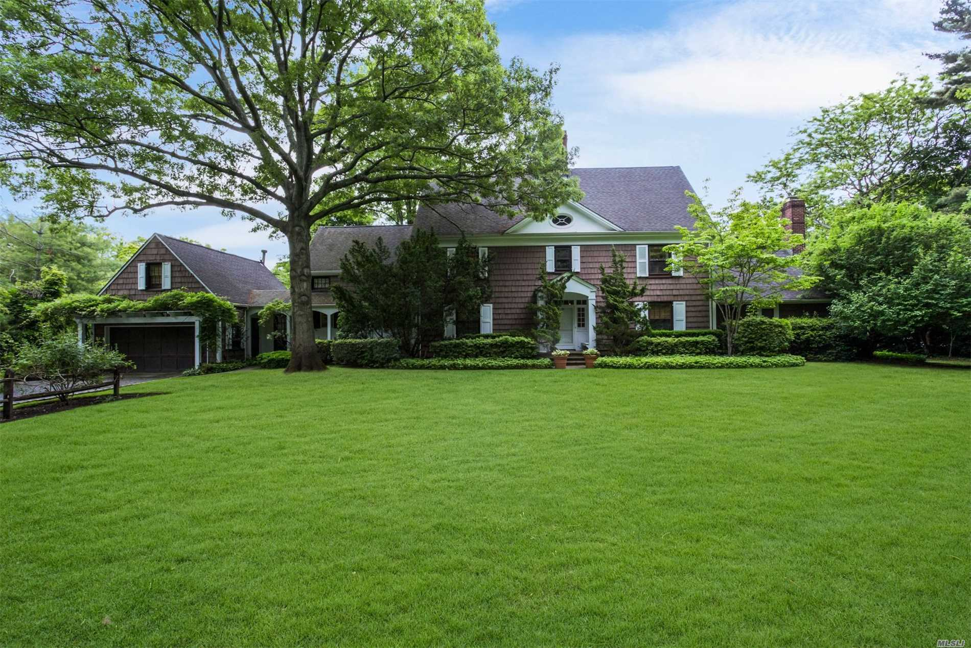 Private Driveway Leads To Traditional Colonial On Magnificant Property. Lovely Size Home With 3 Floors Of Great Family Space. The Home Has An Additional Studio Over Garage And Former Barn. Must See This One-A-Kind-Home!!!