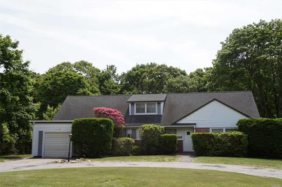 This Spacious Home In The Heart Of Center Moriches Features: Large Living Room, Formal Dining Room, Eik, 4 Bedroom/Potential 5th Bedroom Or Office, 2 Baths, Full Basement, New Boiler/Burner, Large 1-1/2 Car Garage, Roof Is Only 5 Years Old. .82 Acre Of Beautiful Private Property. This Home Has So Much Potential And Could Be Your Dream Home. Don't Miss This One... Come Take A Look!!