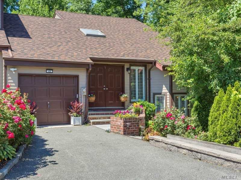 Private Gated Community, Corner Unit Features Spacious Townhouse With Vaulted Ceilings & Hardwood Floors. Open Floor Plan, Steps Up Master Suite, Large Living Room With Fireplace And Master Suite. Lower Level With Bedroom And Full Bath Plus Den And Living Room, Wrap Round Deck Great For Entertaining. Full House Generator. Taxes And Maintenance Combined, $1, 679.A Month. Co-Op With Condo Rules, No Board Approval, No Pets.