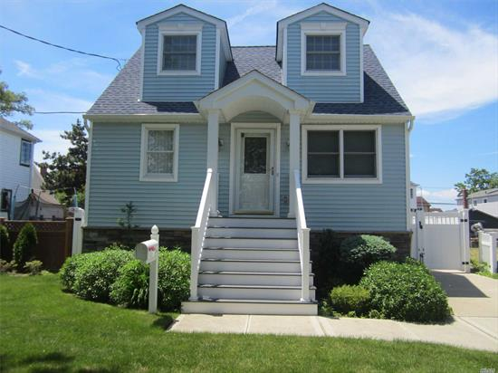 Raised House/New Bulkhead/Waterfront & Beautiful: Everything Updtd Fromthe Roof 2 The Bulkhd!House Has A Sitting Rm Or Off, Large Eik W Cust Cabs & Granite Cnters;A Huge Lr/Dr Combo W Fr Drs To Trex Deck&Fencd Yd Overlookg The Canal (9 Houses Frm Thebay).3 Br's, Wood Flrs, & New Full Bth Makes This House A Vacation, Every Day!House Was Raised&Has A Cement Storage Bsmnt, Cultued Stn, Nu Roof, Sdg, Trex.Porch, Patio, Igs, The 200 Amp Elec & Full Bth Too Much To List...See Attachment.