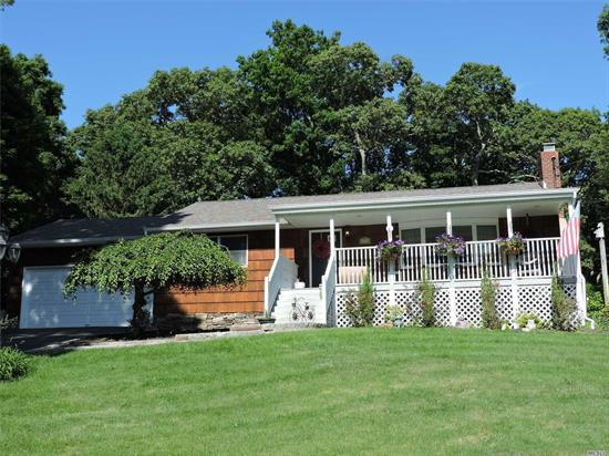 Spacious Ranch On Parklike Property With New In Ground Pool! Magnificent Perennial Gardens! New Granite Kitchen & Baths, Huge Master Suite With French Doors To Deck, Lr W. Fplc, 2 Car Garage,  Private Beach! Picture Perfect Home! Taxes Have Been Grieved And Will Be Reduced Approx. $3, 000.