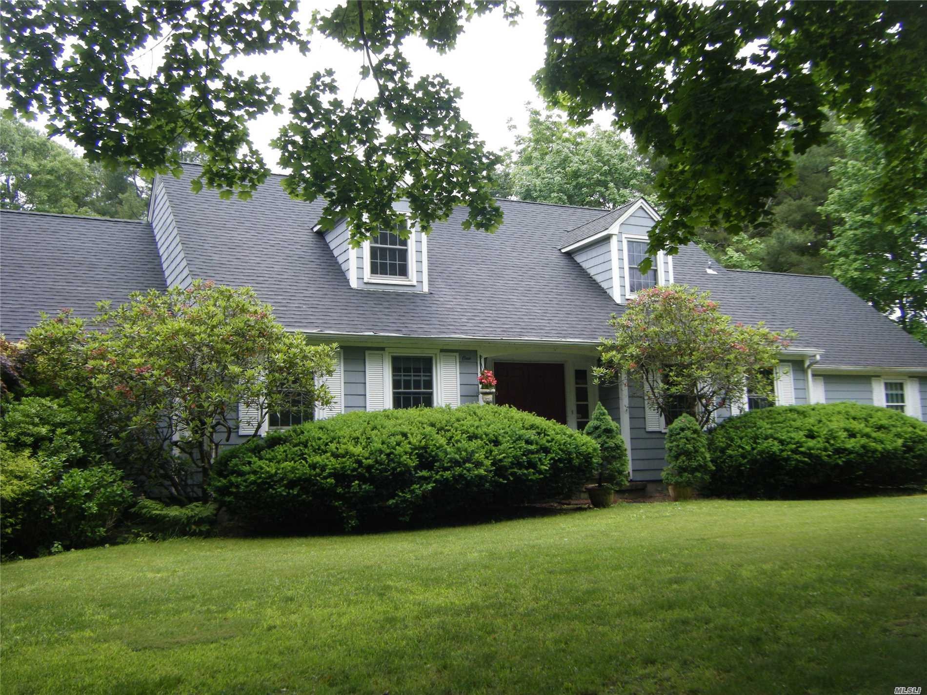 Charm Galore In This Expanded Cape. Wood Fls, Throughout Main House, 2 Fireplaces- Granite, Built In Bbq & Fpl In The Kitchen & Fpl In The Parlor W/French Doors Leading To Covered Porch That Overlooks Private Country Gardens. Updated Baths, One With Wp Tub. Master Could Be Up Or Down. Huge Walk In Attic + Attic Above Oversized 2+ Car Garage. Room For Mom Or Office W/Entrance. Natural Gas Heat & Hot Water. Beautiful Neighborhood!