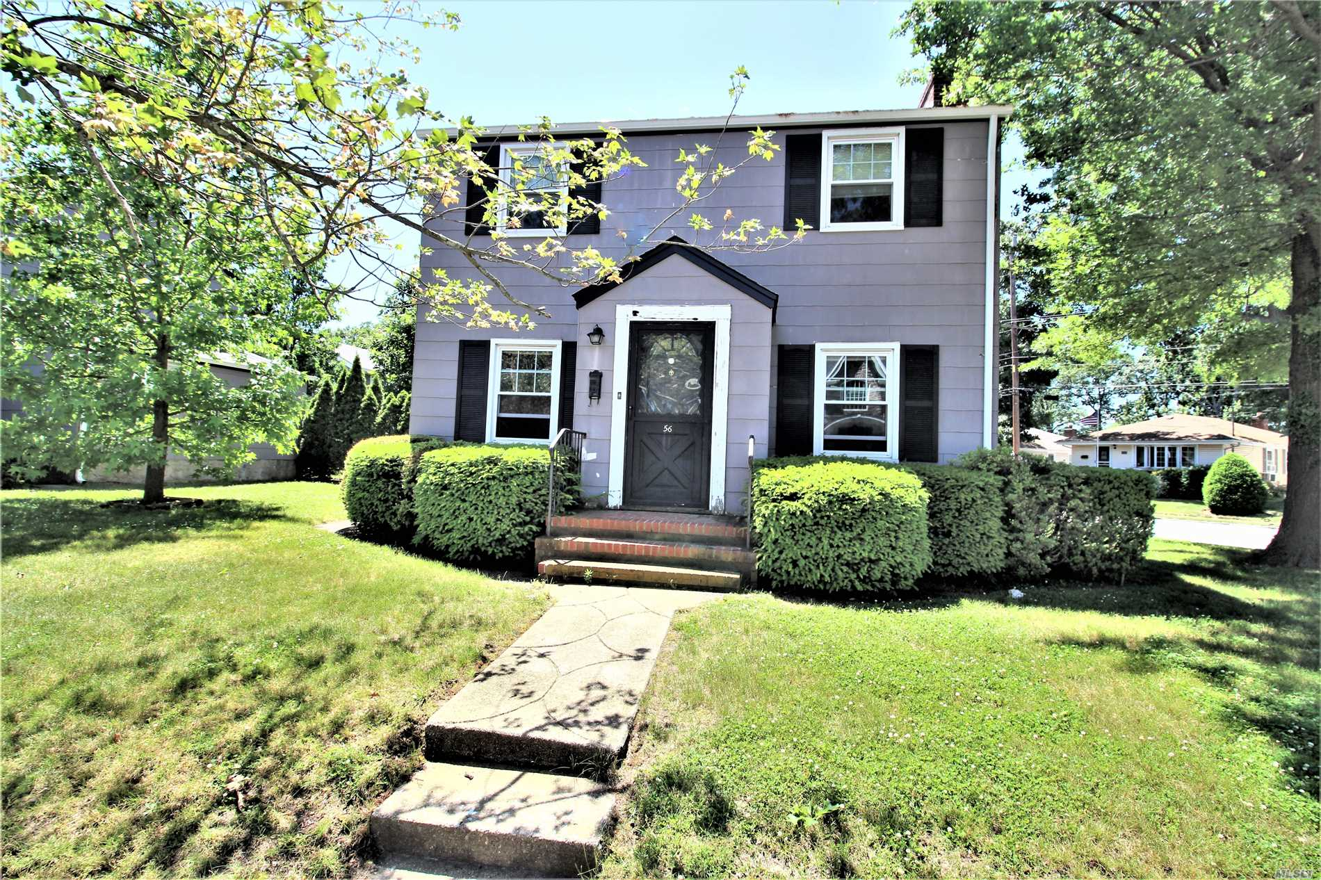 3 Bedroom, 1 Bath Colonial With Full Basement On 50 X 100 Property. Great Opportunity To Customize & Make This Home Your Own. Living Room W/Fireplace & Dining Room Both With Hardwood Floors. Second Level Which Consists Of 3 Bedrooms Including 2 Tandem & 1 Full Bath. Full Basement, Private Partially Fenced Yard. Entryway Door Is Exclusion