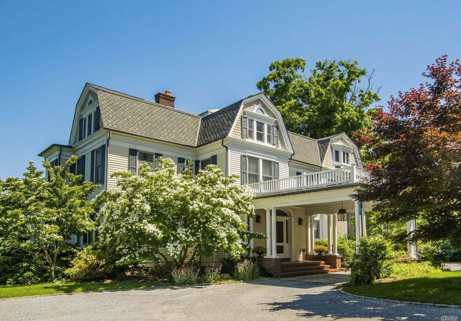 190 Ft Of Spectacular Waterfront Grace This W.B. Tuthill-Designed Architecturally Historic Home. Updated For Today's Buyer With Incredible Water Views Of Huntington Bay Out To The Long Island Sound. This Exquisite Home Is Unparalleled In It's Fine Craftsmanship. 3 Floors Of Living Space, Gourmet Kitchen And Master Suite With Balcony. Beautifully Landscaped Gardens, Brick Patio, Covered Porch, New Bulkhead, Full Cottage With Bedroom, Kitchen Bath, Living Room. Nathan Hale Beach Assoc.(Dues Req'd)