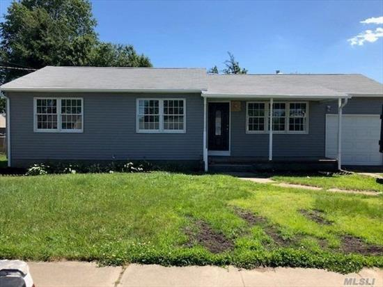 Beautifully Painted, 3 Br, 1 Bath Low Ranch, Lots Of Natural Lighting, With Huge Windows. Updates Include New Siding, New Windows, Cozy Fireplace. Move In Ready.