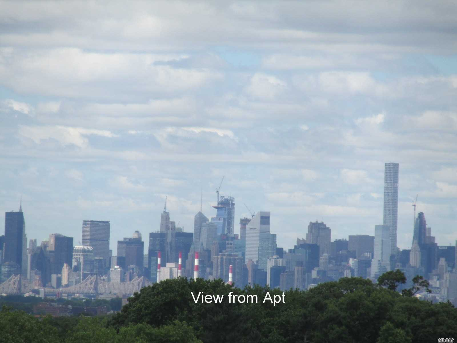 Fabulous New York City Skyline View From This Split Two Bedroom/Two Bath; Eik;Living Room/Dining Area; Original Cabinets; Year Round Health/Fitness Club;Shopping Arcade; Restaurant On Premises; Deli, Beauty Salon, Dry Cleaners; Tennis Courts, Library Plus Much More; Near Transportation And Shopping Center.