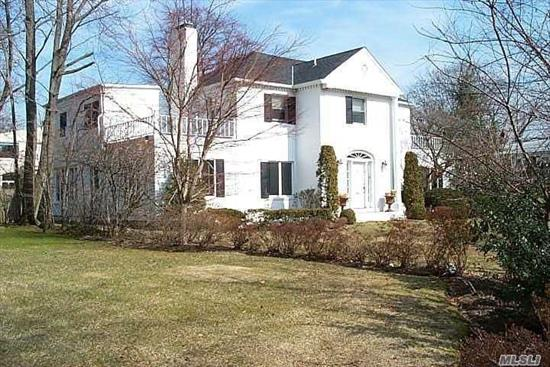 Stately Center Hall Colonial With Oversized Bedrooms And Large Lot In Lawrence.