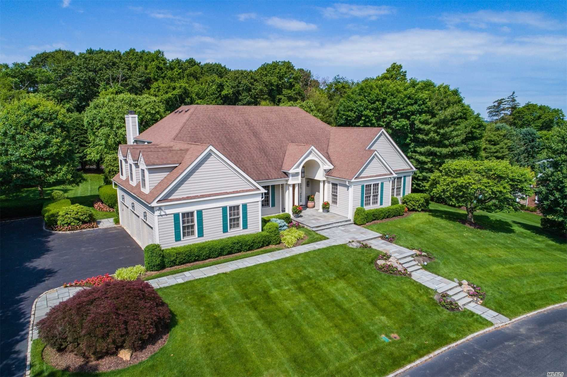 Luxurious Living In Gated Community Of Stone Hill, This 4-Bedroom Showpiece With Extraordinary Architectural Details Sits On .7 Park-Like Acres And Offers Opening Living Room W/30 Ft. Ceilings, Fdr, Custom Eik Adjacent To Family Rm W/Fpl & Floor-To-Ceiling Windows And Master Suite On Main Level With Large Walk-In Closets.