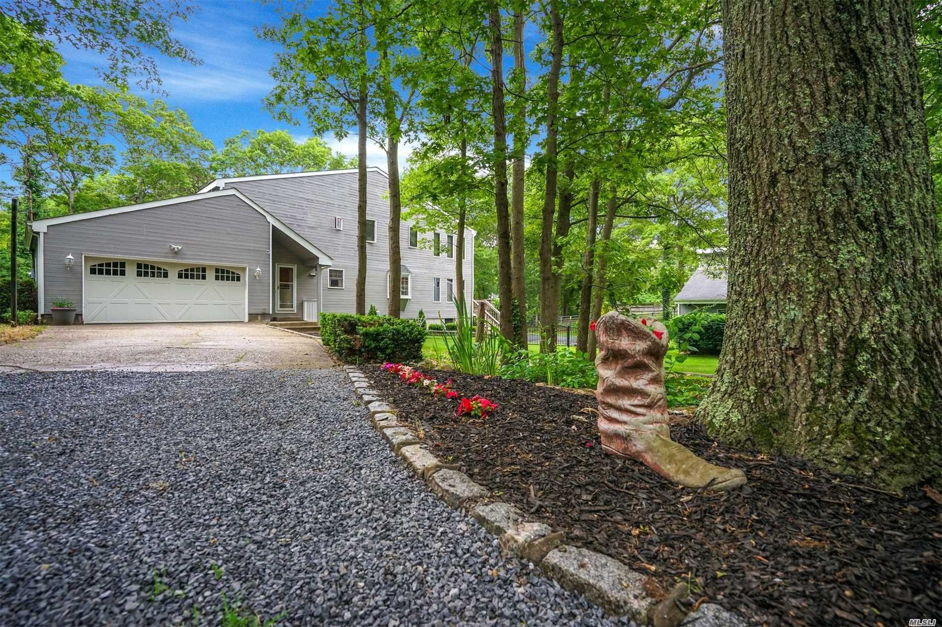 Enjoy The Tranquil Privacy Of This Beautiful Home Nestled On 2.1 Acres, Sprawling 4 Bdrm Contemporary Colonial W/ Open Floor Plan, Country Living At Its Best. New Eik And Updated Baths! Room For Extended Family Or Guests W/Fin Bsmt And Ose. Refreshing Ig Pool Overlooking Private Grounds. 2 Stall Center Is Barn W/Loft Water And Electric And Garage Bay. 2 Lean-To's