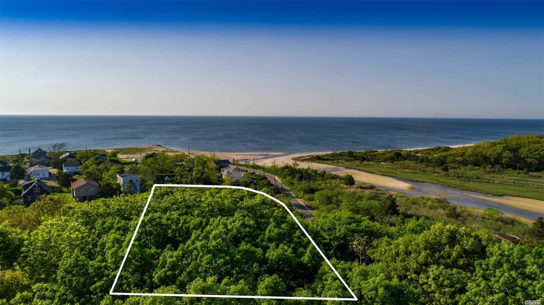 If You Are Dreaming About Building A New Home Near The Water - This Is It! 1.2 Acres, Elevated Lot, With Partial Views Of The Long Island Sound And Goldsmith's Inlet. Best Of All, It's Steps To The Beach And On A Very Private Road. Owner Working On New Survey With Building Envelope. Not Many Pieces Of Land Like This Available Any More. Hurry!