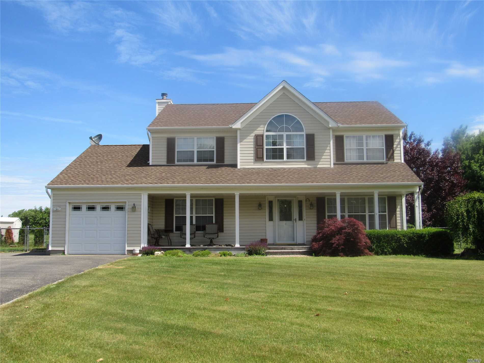 Lovely 4 Bedroom, 2.5 Bath Home. Master Suite With Sunken Tub, Inground Pool On Beautiful Property Overlooking Farmland. Roof Is Approximately 3 Years Old.