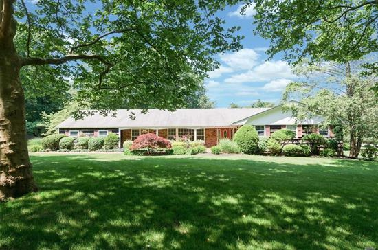 One Of A Kind Gem! Lovely, Spacious And Bright Five Bedroom, Three Bath Ranch Set On A Full Level Acre. Beautifully Updated Chef's Kitchen W/Stainless Steel Appliances & Breakfast Nook. Family Rm W/Fplc. Main Floor Laundry. Beautiful Hardwood Floors Throughout. Attached 2 Car Garage. Large Unfinished Basement With Outside Entrance. This Home Has Endless Possibilities!