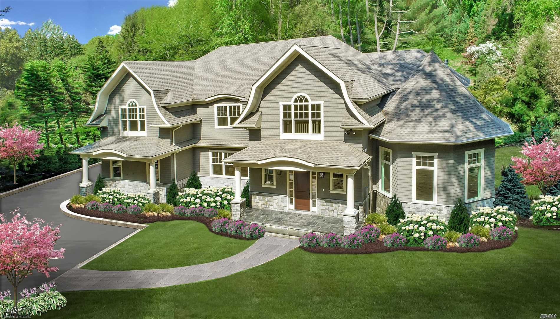 Roslyn Harbor. Spectacular New Construction In The Heart Of Roslyn Harbor. Featuring 6300 Square Feet Of Hampton Style Luxury On Over 1 Lush Acre. 6 Bedrooms, 4.5 Baths With Radiant Heat, Huge Rooms For Entertaining & Soaring Ceilings. Perfection!