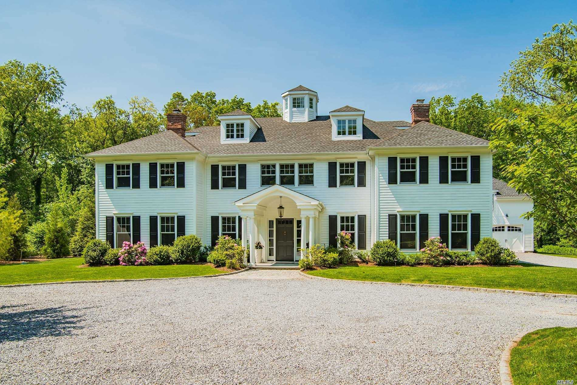 Exquisite 6 Bedroom Classic Center Hall Colonial On 2.38 Flat Manicured Acres W/ Specimen Trees & Landscaping. Separate Artist's Studio/Loft Over 2 Car Detached Heated Garage. State Of The Art Chef's Eik W/ High End Appliances. Luxurious Master Bedroom Ensuite W/ Spacious Walk In Closet & Fp. Radiant Heat & Beautiful Mill Work Throughout House. Gorgeous Full Finished Basement W/ Media Center & Cedar Closets. Special Outdoor Lighting System. Perfect Location For Commuting!