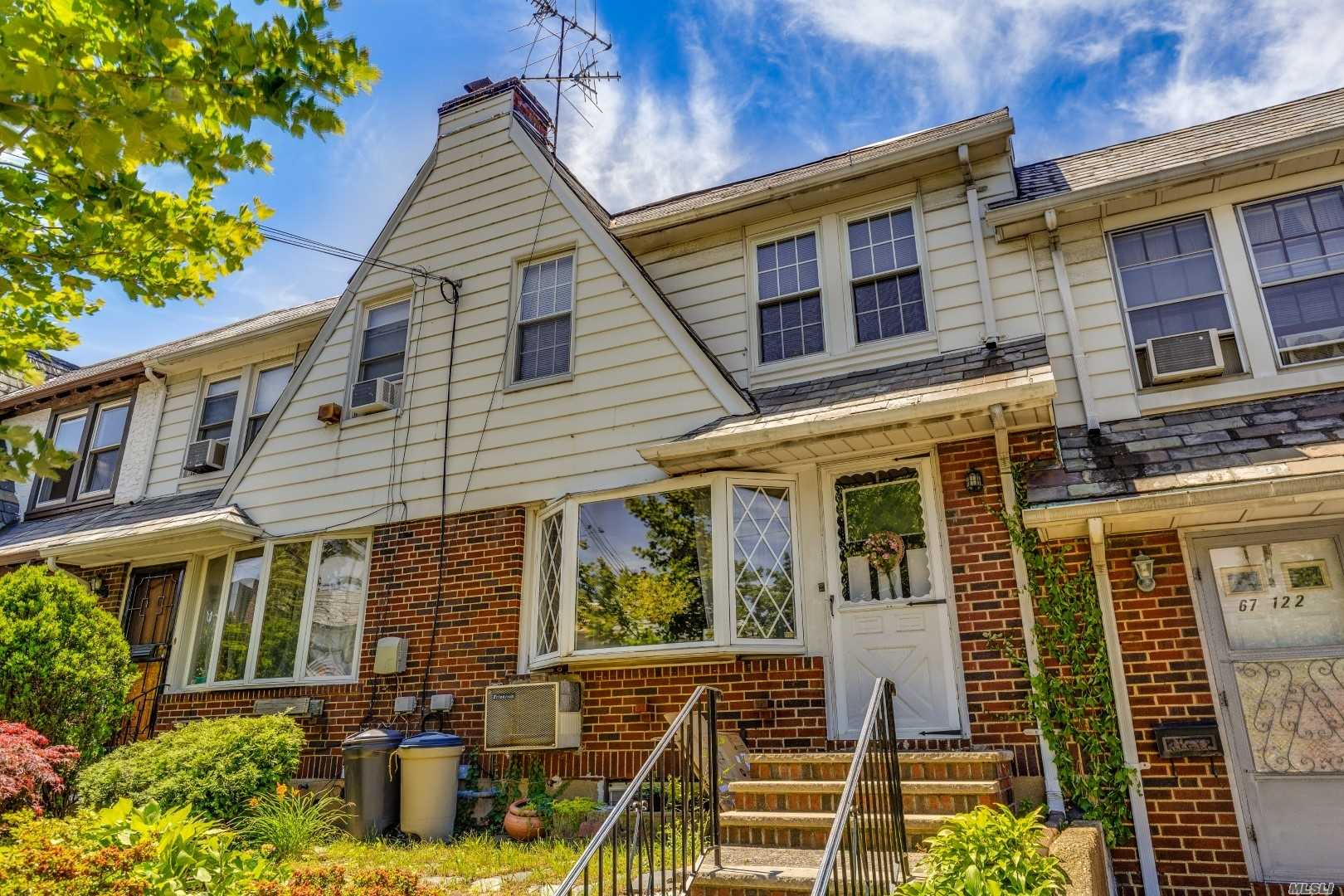 Bring Your Imagination To This Lovely Townhouse Located On A Quiet Tree Lined Street In The Heart Of Forest Hills. Convenient To Transportation, Shopping, Restaurants And Manhattan. 3 Bedrooms, 1 Bathroom, Full Basement, One Car Detached Garage, Hardwood Floors And Many Beautiful Original Features Throughout.