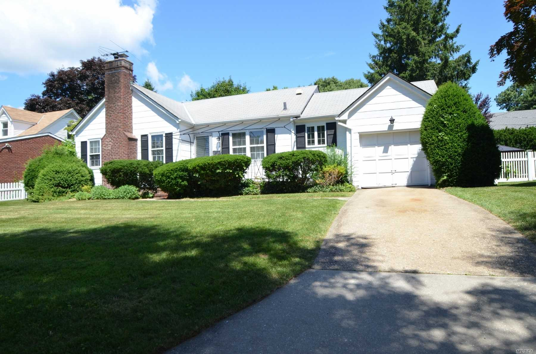 Very Sweet Ranch! Ef, Lr W/Fpl, Fdr, Eik, Mstr Bdrm, 2nd Bdrm, Full Bath. Pull Down Stairs To Attic. Full, Part Finished Basement W/Laundry, Rec Rm, Lots Of Storage & Mechanicals. Lovely Yard W/Patio!