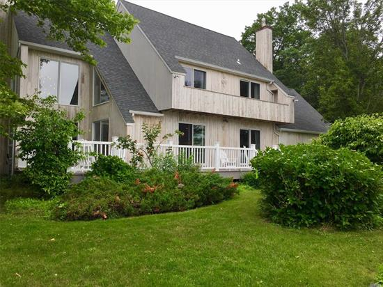 Turn Key Bayfront Beauty! Located On A Quiet Cul-De-Sac In Willow Point Estates And Close To Bay Beaches And Southold Village, This Elegant North Fork Contemporary Is The Perfect Year Round Escape. Private And Beautifully Landscaped, The House's Open Layout Makes It Ideal For Entertaining. This Fully Renovated Lovingly Furnished Home Features A Master Suite, 2 Bedrooms, 2.5 Baths, Spacious Living Room, Dining Room And Kitchen.The Outdoor Area Has A Deck For Enjoying The Waterfront Year-Round.