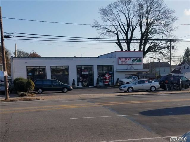 Prime Corner Retail Building W/Exceptional Upside - Potential Opportunity To Build Apartments On The 2nd+3rd Flr. Located In Close Proximity To Hicksville Lirr And Major Roads/Highways (Northern State Pkwy). Established Bicycle Shop For Over 20 Years. Great Demographics With High Traffic Counts On. Total Of 4600Ft: 3200 On 1st +1400 On 2nd. All Info Must Be Verified Independently