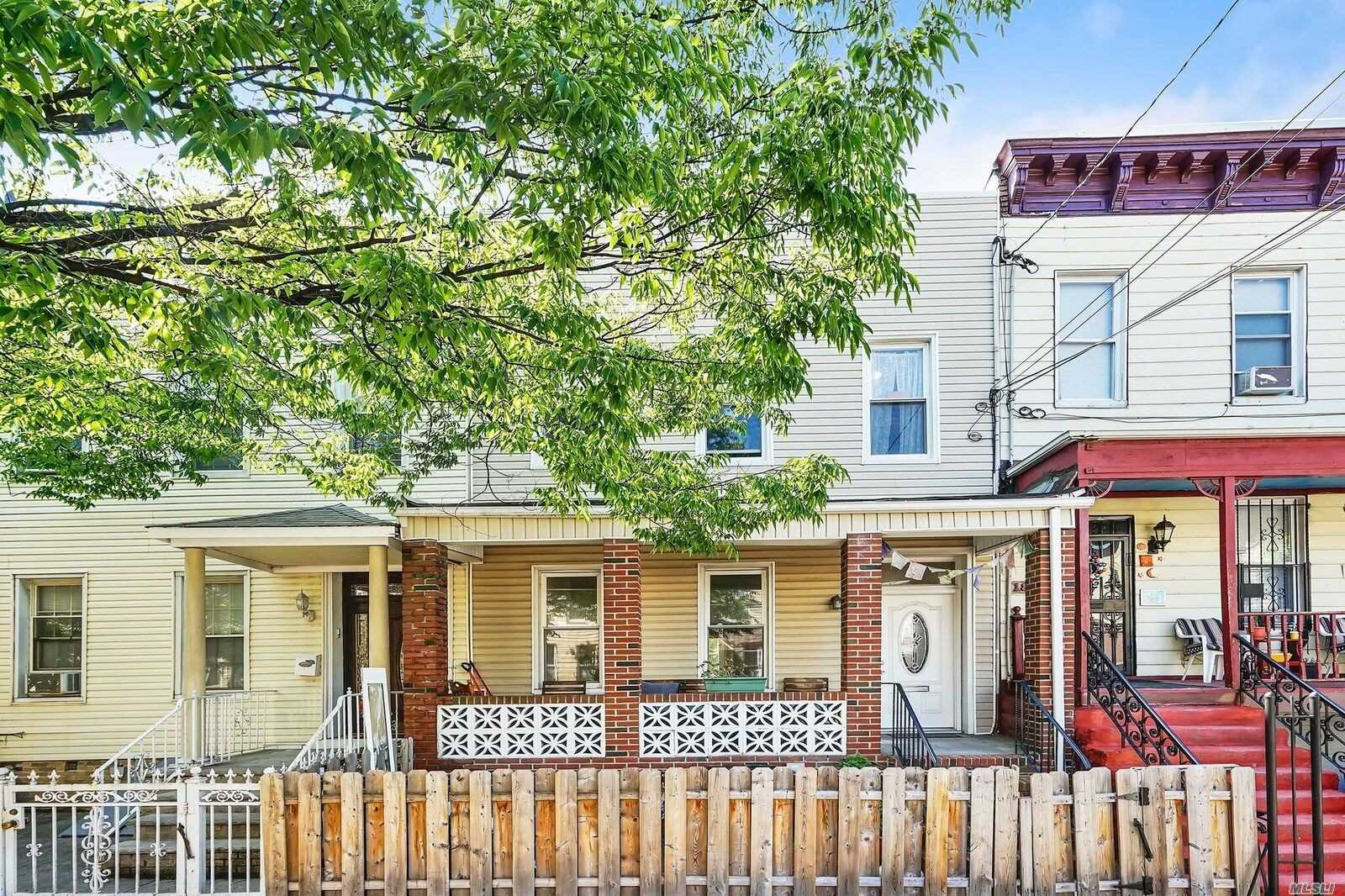 Renovated 2 Fam Just Blocks To M Or L Train . Prime Ridgewood Location Yet Close To Bushwick Restaurants & Bars. Each Apt Is Well Maintained W/ Mod Kitchen, Bath, & Hardwood Flrs. Full Fin Bsmt W/ Washer & Dryer, Skylight, Brick Front Porch, Back Patio & Large Pvt Yard Perfect For Entertaining And Pets! 1st Flr & Bsmt Are Vacant & Is Great For An Owners Duplex. 2nd Fl Apt Will Be Vot & Can Be Rented Out For Additional Income. Great Neighbors & A Quiet Street Makes This Your Oasis In Nyc
