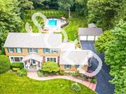 Vacation At Home In This Wonderful 4+Bedroom, 2.5 Bath Super Spacious Ch Colonial On O'sized Manicured 1.5 Acre Lot! Sunken Lr & Eik Open To Country Club Yard W/Igp, Expansive Deck, Det 3 Car Garage & Room For Tennis. Huge Bonus Rm On Main Level Offers Great Possibility For 5th Br Suite Or Ofc W/Separate Entrance. Den W/Fpl, Hw Floors, Cac, Gas Heat/Cooking. Meticulously Maintained In & Out! Perfectly Located In The Heart Of Salem Ridge, Minutes To Huntington/Northport/Greenlawn Villages