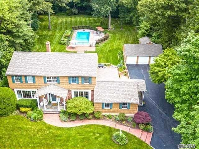 Vacation At Home In This Wonderful 4+Bedroom, 2.5 Bath Super Spacious Ch Colonial On O'sized 1.5 Acre Lot! Sunken Lr & Eik Open To Country Club Yard W/Htd Igp, O'sized Deck, Det 3-Car Garage & Room For Tennis. Huge Bonus Rm On Main Level Offers Great Possibility For 5th Br Suite Or Ofc W/Separate Entrance. Den W/Fpl, Hw Floors, Cac, Gas Heat/Cooking. Meticulously Maintained! Perfectly Located In The Heart Of Salem Ridge, Conv To Huntington/Northport/Greenlawn Villages