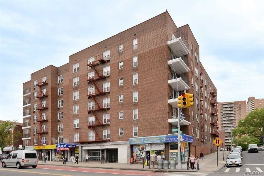South Exposure Sunny One Bedroom Coop Unit Located In Prime Flushing Downtown, Fully Renovated, Hardwood Floors Throughout The Apartment, , Window In Kitchen , Sublet Allows After Two Years Of Prime Residence, Low Maintenance Cover All Except Electric, Bus Stop In Front Of The Building, Well Maintained Coop Building With Lot Of Improvement And No Cost To Shareholders.