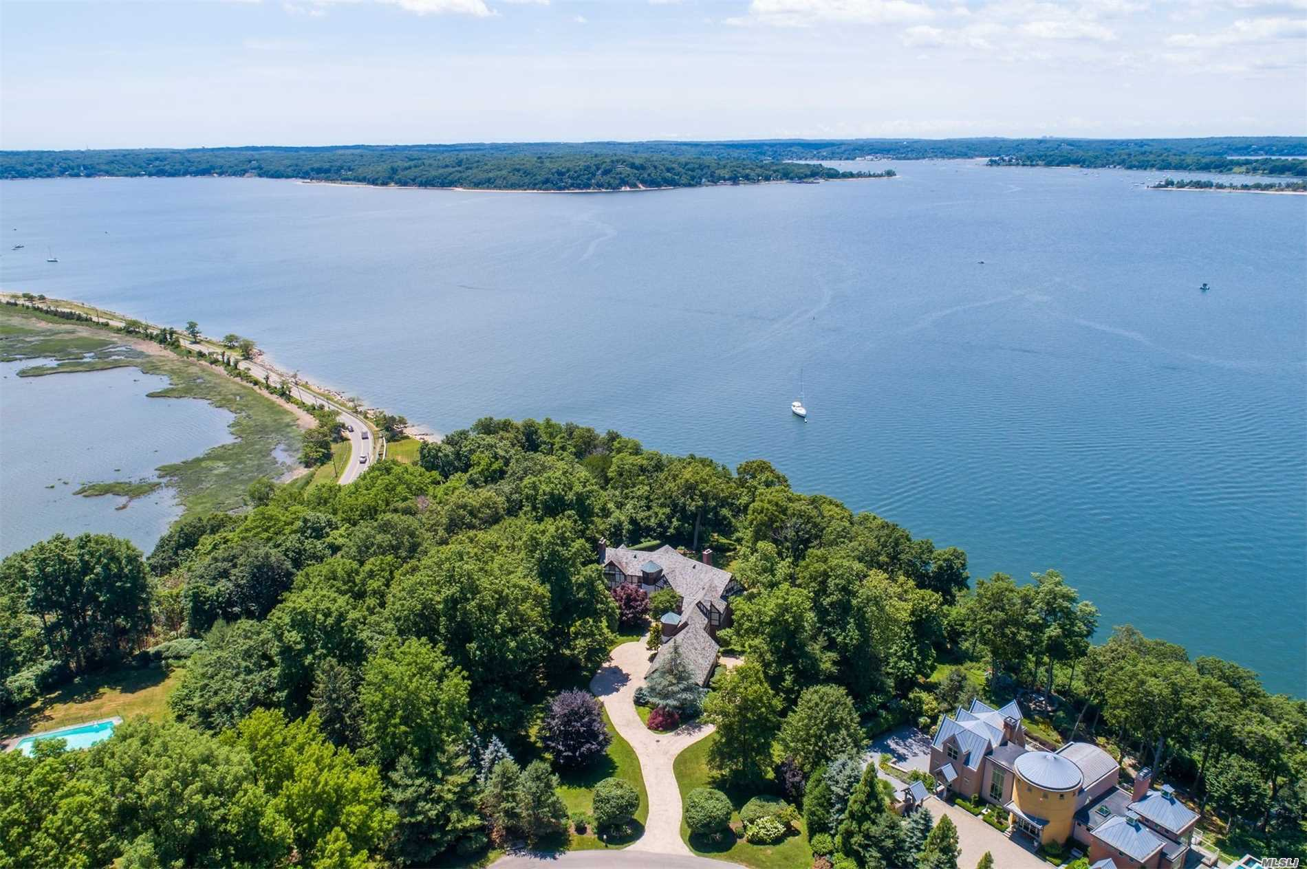 Enjoy Sunsets All Year Long From This Custom Built Waterfront Home (1997) A Fabulous Hampton Alternative! 1 Hour From Manhattan. Spectacular Panoramic Vista To Centre Island And Connecticut. Fort Hill Membership Dues $1, 800 Per Year Includes Beach, Mooring And Tennis.
