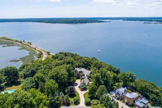 Direct Waterfront!!! Enjoy Western Views, Sunsets All Year Long From This Custom Built Home (1997) A Fabulous Hampton Alternative! 1 Hour From Manhattan. Spectacular Panoramic Vista To Centre Island And Connecticut. Fort Hill Assoc. Deeded Dock & Beach Rights. Award Winning Cold Spring Harbor Schools #2.