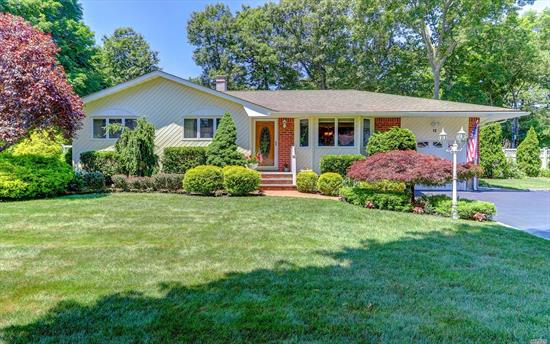 Diamond Expanded 1600 sq ft Ranch-Low Hauppauge Taxes ($10,146 w/Basic Star) -21X23' Family Room W/Fplce; Updtd Kitchen/Maple Cabinets/Granite/New Bath/Hardwood Floors/Crown Moldings/Cac/Gas Heat. 20X40 I/G  Pool/Beautiful Landscaped .38 Acre.  Full Finished Basement W/Bath. Home Is A 3 Bedroom Currently Being Used As 2 Bedroom With A Large Master Bedroom. Efficient Gas Heat;  Near All Parkways (Commuters Dream), LIRR; Suffolk Transit System on Vets Hwy; Local Shopping/Smith Haven/Walt Whitman Malls; Tangier Outlets; Fine Restaurants; Whisper & Harmony Vineyards