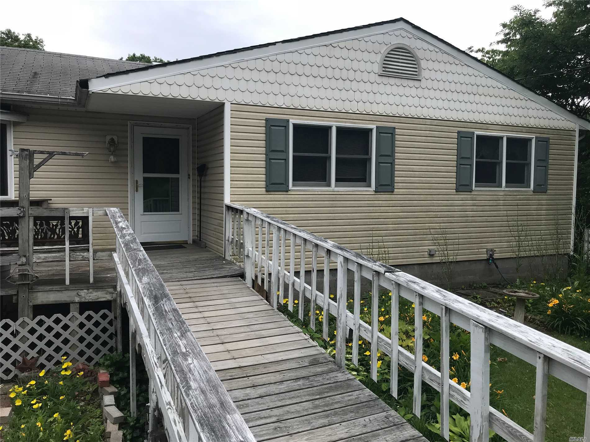 3 Bedroom Ranch In The Hauppauge School District. 1/2 Acre To Be Maintained And Mowed By The Homeowner During The Summer Months. House Is Being Cleaned Out.