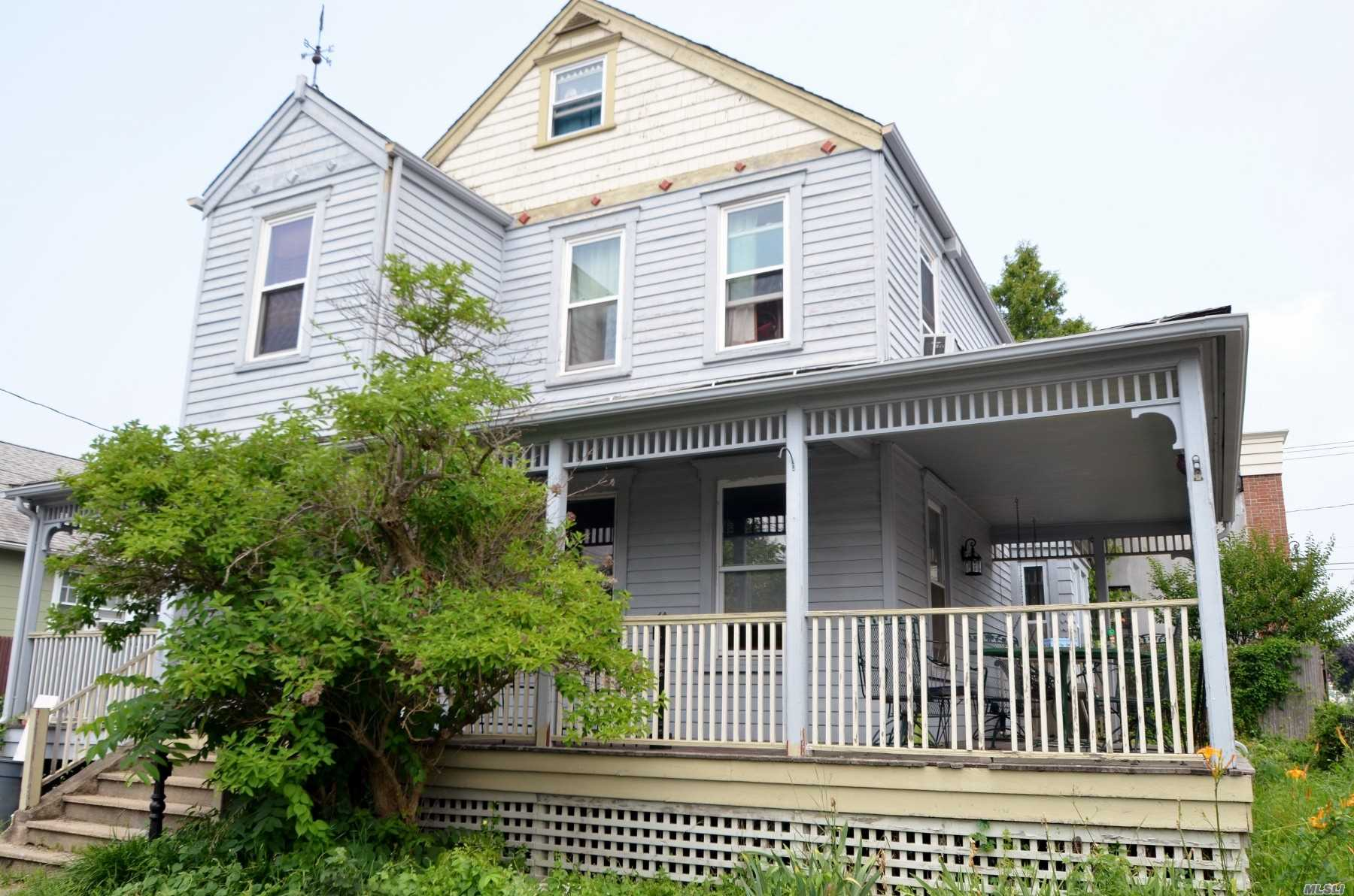Wraparound Porch Invites You Into This C.1863 Colonial With Spacious Rms, High Clg's, 3 Bdrms, 2.5 Baths, Including Master Suite. Finished Heated Attic For Storage. Full Unfinished Basement, O/S Entry. A Wonderful Opportunity To Make This Your Own!