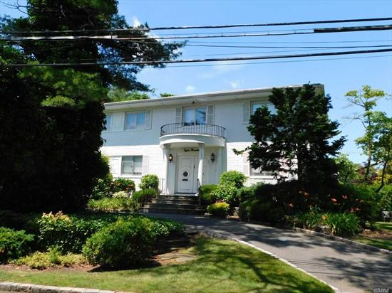 Center Hall Colonial With Marble Floors In Large Entry Foyer, Renovated Eik, Formal Lr, Formal Dr, Circular Driveway, Low Taxes, Superb Location.