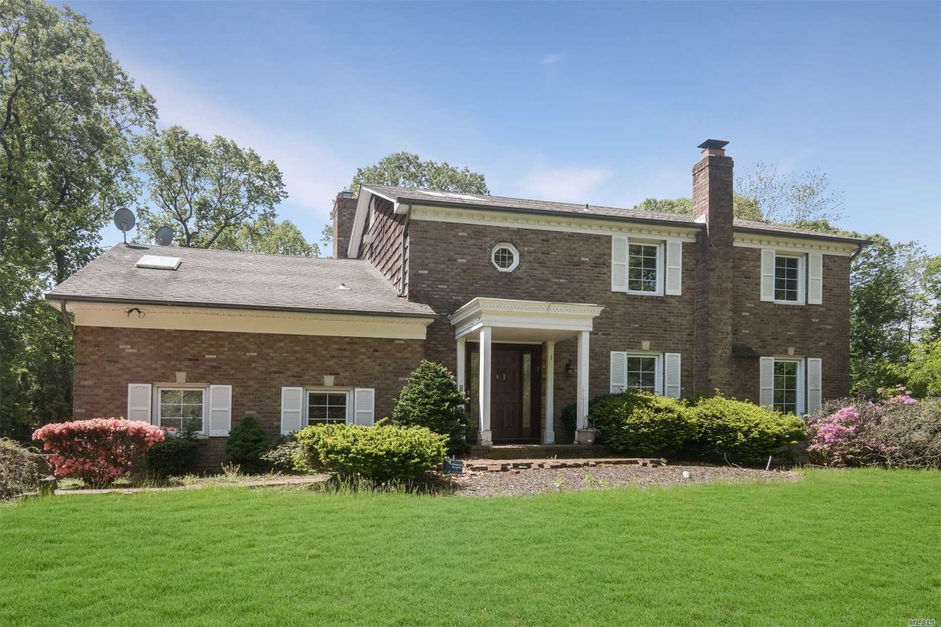 Large, Bright & Sunny Colonial On Park-Like Grounds! Half Hollow Hills Schools. Relax On The Deck Overlooking The Pool. Fireplaces, Wood Floors, Master Suite W/ Jacuzzi & So Much More. Full Basement & 2 Car Garage For Ample Storage. You Have To See This For Yourself!