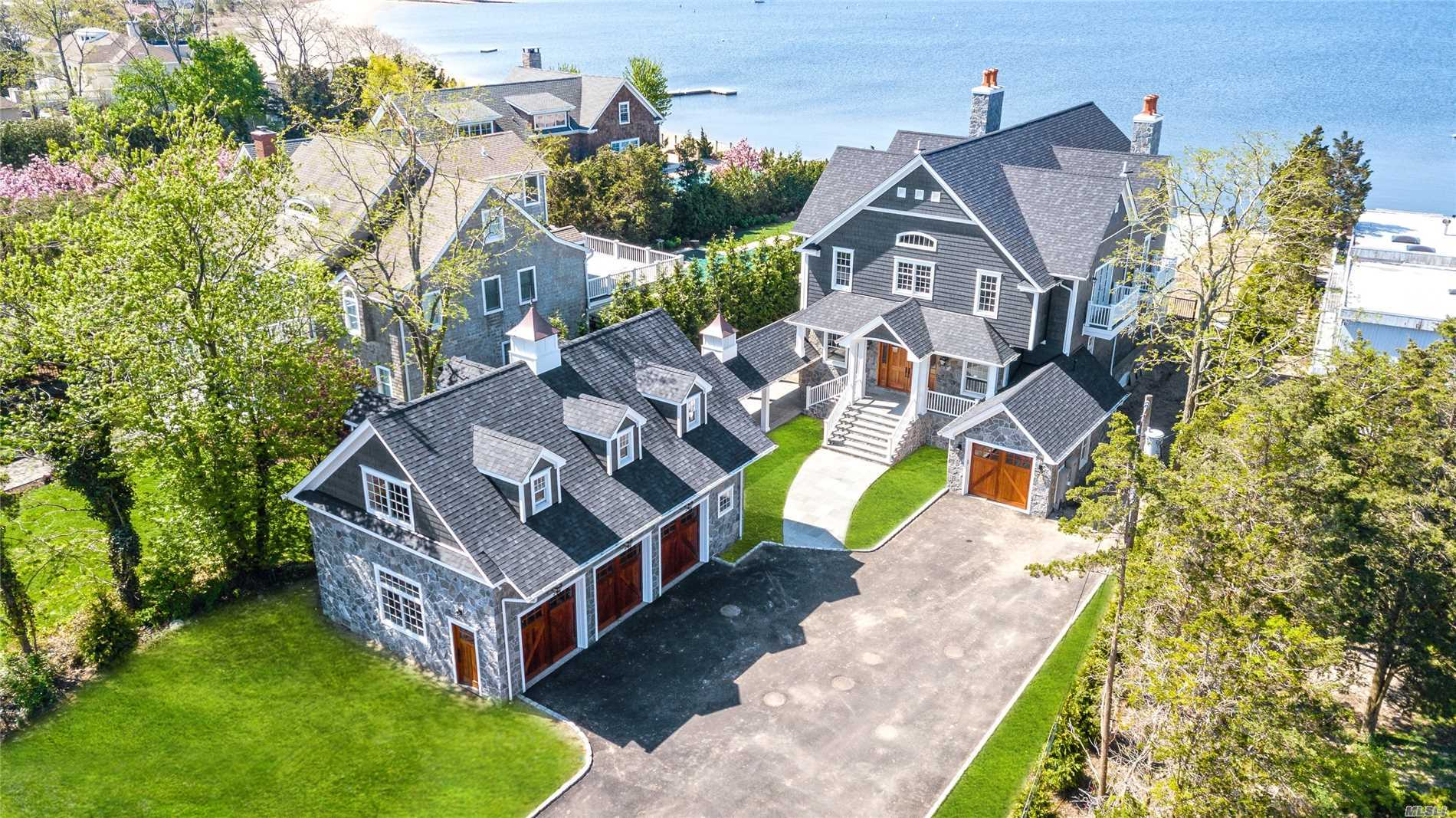 New Construction. Stunning Waterfront Colonial On Sought After Bay Side Of Asharoken With In-Ground Pool & Dock. Open Floor Plan W/10 Ft Ceilings. Designer Kitchen & Baths. Radiant Heat.
