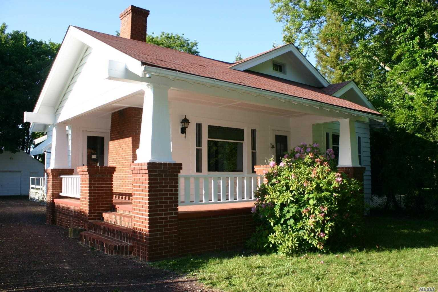 $25, 000 Price Reduction!! 3 Bedroom Craftsman Bungalow Home Has Plenty Of Old World Charm Such As Stained Glass Windows, Solid Wood Doors, Hard Wood Floors, 9 Foot Ceilings. The Front Bedroom/Sitting Room Has No Closet. 10 Year Old Roof Shingle, Oil Burner 12 Years Old, 1/2 Mile To Fifth Street Beach And Park. This Home Is Outside The Village, But Has Village Utilities Including Sewers.
