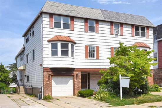 Great 2 Family In Bay Terrace, 3 Bedrooms/2 Bathrooms Over 4Bedrooms &/2.5 Bathrooms, W/D In Each Unit, Central Air, Great School ( District 25) Updated Kitchen Attached Garage With A Private Driveway, Finish Basement,  Bath And Separate Entrance. Private Backyard, Will Be Deliver Vacant. Close To Bay Terrace Shopping Center, Easy Access To Clearview Expwy & Zcross Island Expressway..Sale May Be Subject To Term&Conditions.All Information Deemed Accurate However Should Be Independently Verified.