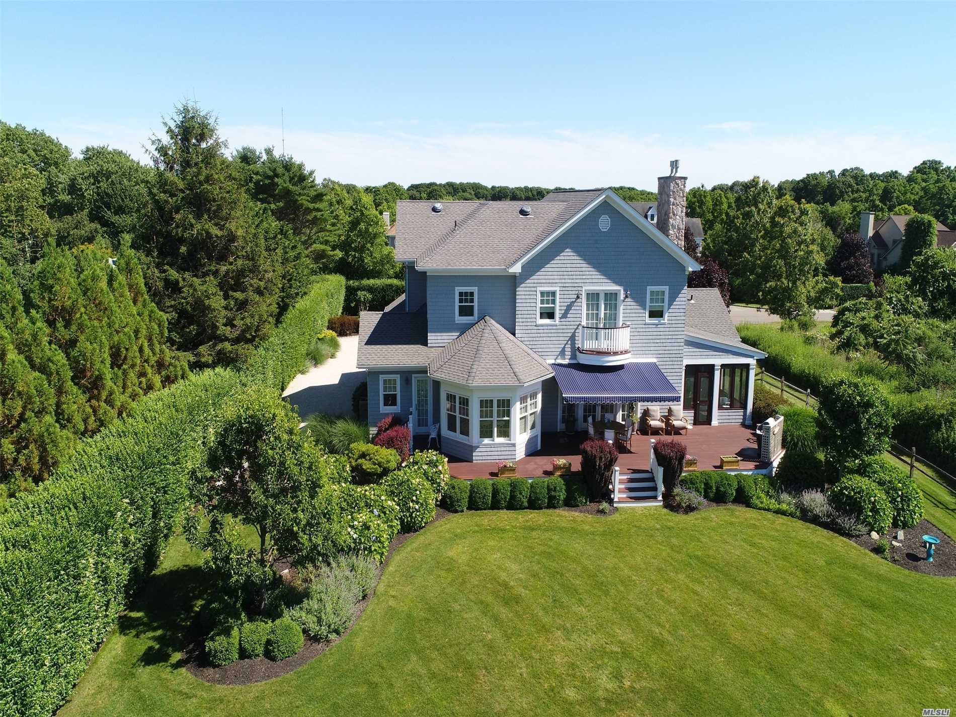Coveted Location In Sound Beach Community On Rock Cove, Greenport: Exceptional Diamond Condition, Custom Built 3, 928 Sq. Ft. Home On .69 Beautifully Landscaped Acres In Rockcove Estates. A Short Walk To Deeded Association Sound Beach. Custom Woodwork, Large Eat-In Gourmet Kitchen, Spacious Great Room With Gas Fireplace, Grand Screened Porch, First & Second Floor Master En-Suites, High-End Designer Fixtures, Quality Mechanicals. Room For A Pool. Adjacent Lot Also For Sale See Mls# 3066381.