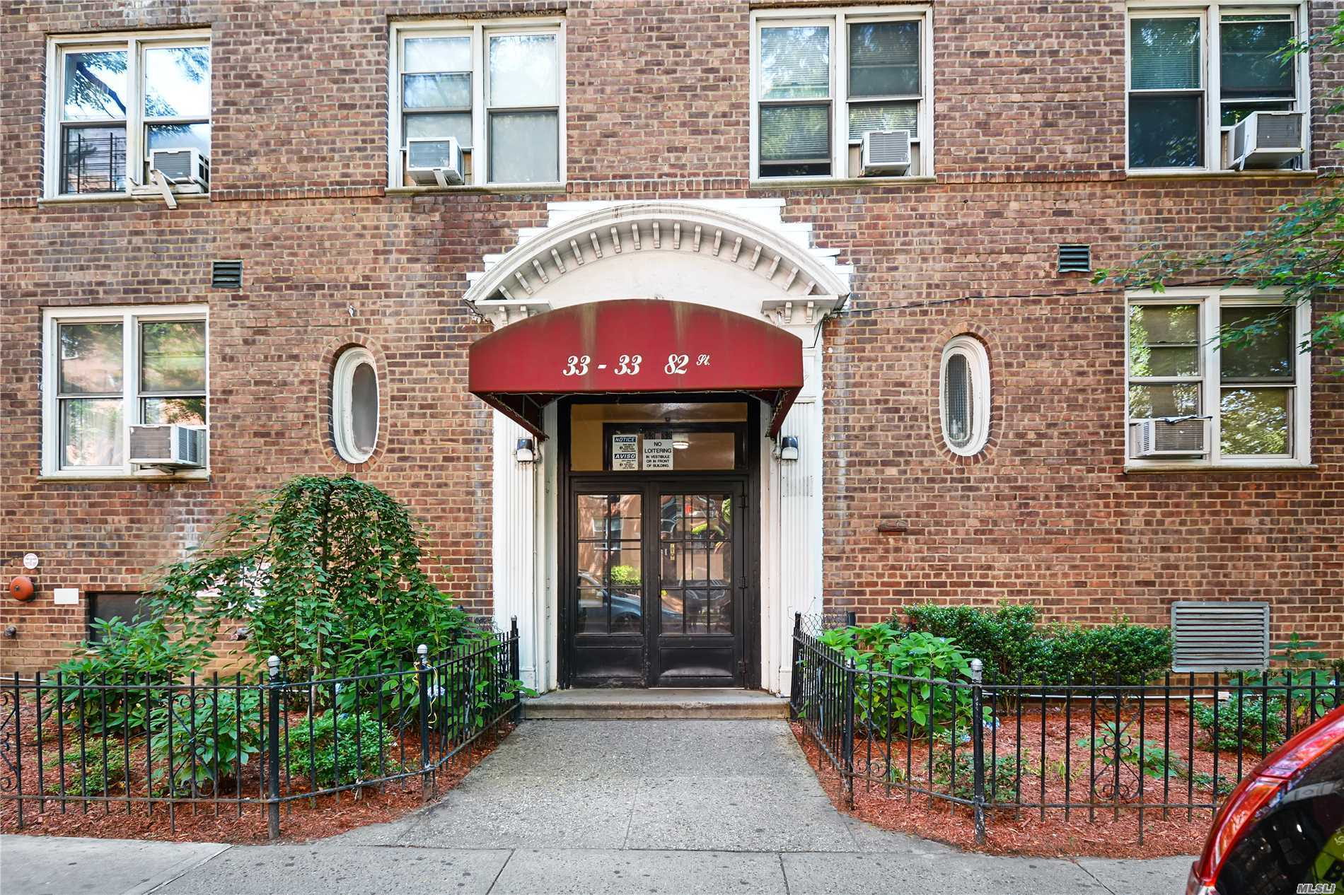 Sun-Drenched 1 Br Coop In The Heart Of Jackson Heights Historic District. This Charming 5th-Floor Apt Features A Large Entry Foyer, Updated Kitchen, Updated Bathroom, & Windows In Every Room. Building Amenities Include Laundry, And Secured Entry. Complex Offers A Live-In Super. Sub-Lease Is Welcomed After 2 Yrs. W/Board Approval. Just Minutes Away From The Q32, Q33, And The Q66 Bus, The E, M, And The 7 Train Lines. Enjoy Entertainment Along Northern Blvd.