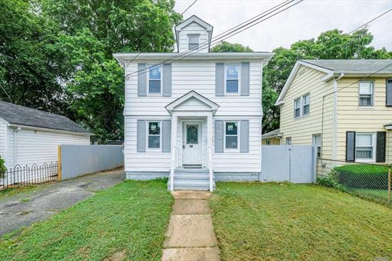 Four Bedrooms, Two Bath Colonial Home With A New Roof. Large Bedroom On 1st Floor With Full Bathroom As Well As Additional Large Bedrooms On The 2nd Floor. Newly Renovated Home With Hardwood Floors And All New Stainless Appliances With. Full Finished Basement. Long Driveway With A New 2 Car Garage