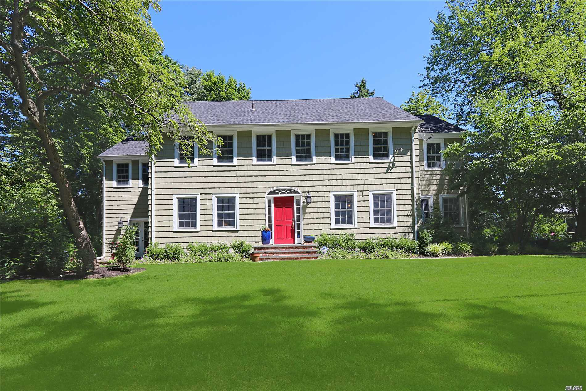 Picturesque Country Colonial Set In Private Setting, Newly Renovated, Gourmet Chef's Kitchen, Outstanding Great Room, Open Layout. Prestigious Roslyn Schools. Must See To Appreciate!