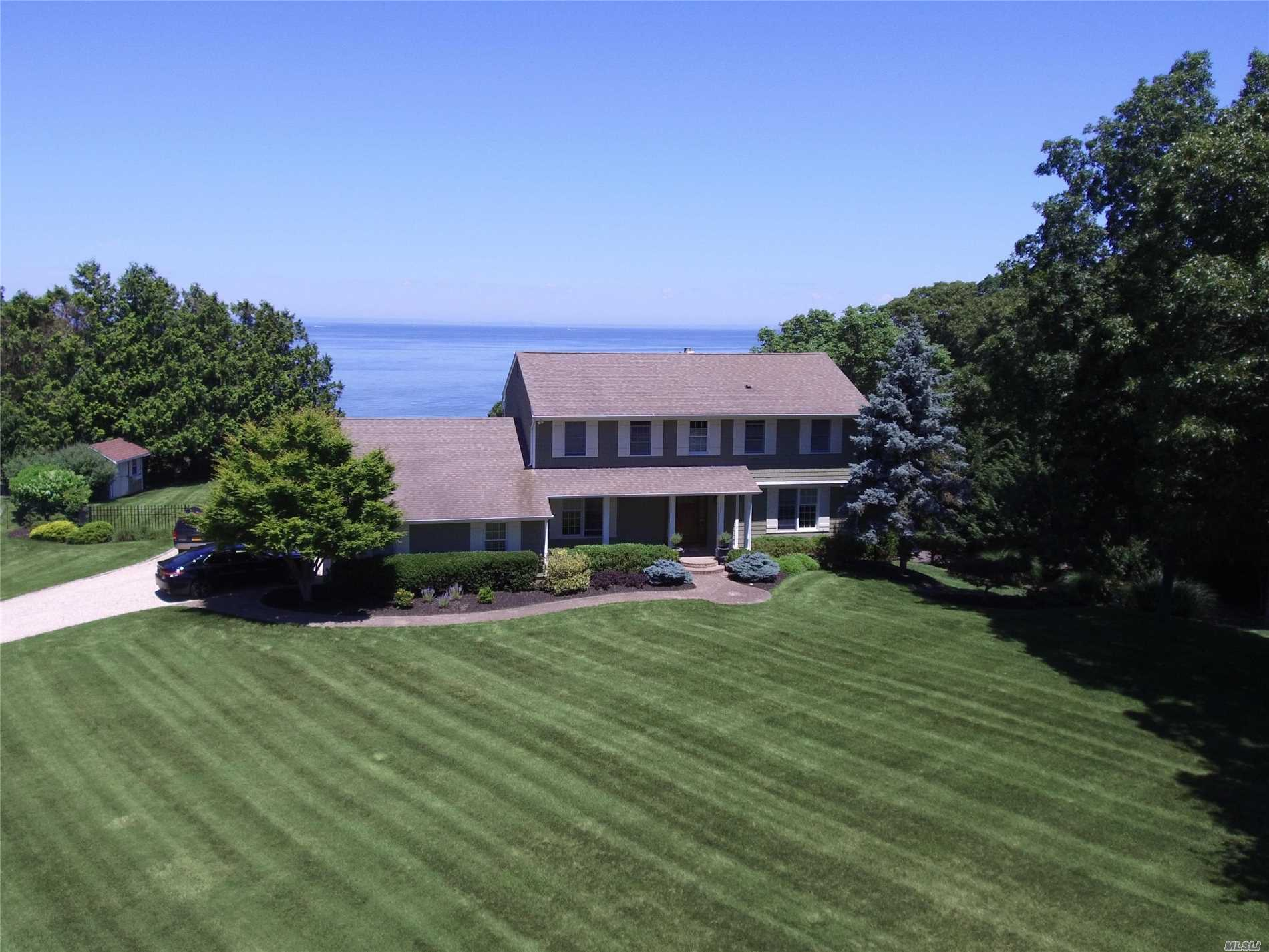 Stunning Waterfront 4 Bedroom 3 1/2 Bath Colonial On 1 Acre In Soundview Acres. Private Beach Association. Salt Water Inground Pool. Mahogany Deck, Patio Pavers, Full Finished Basement With Shower And Outside Entrance. California Closet In Master, Gas Fireplace In Den, Hardwood Floors. Beautiful Water View From Every Room.