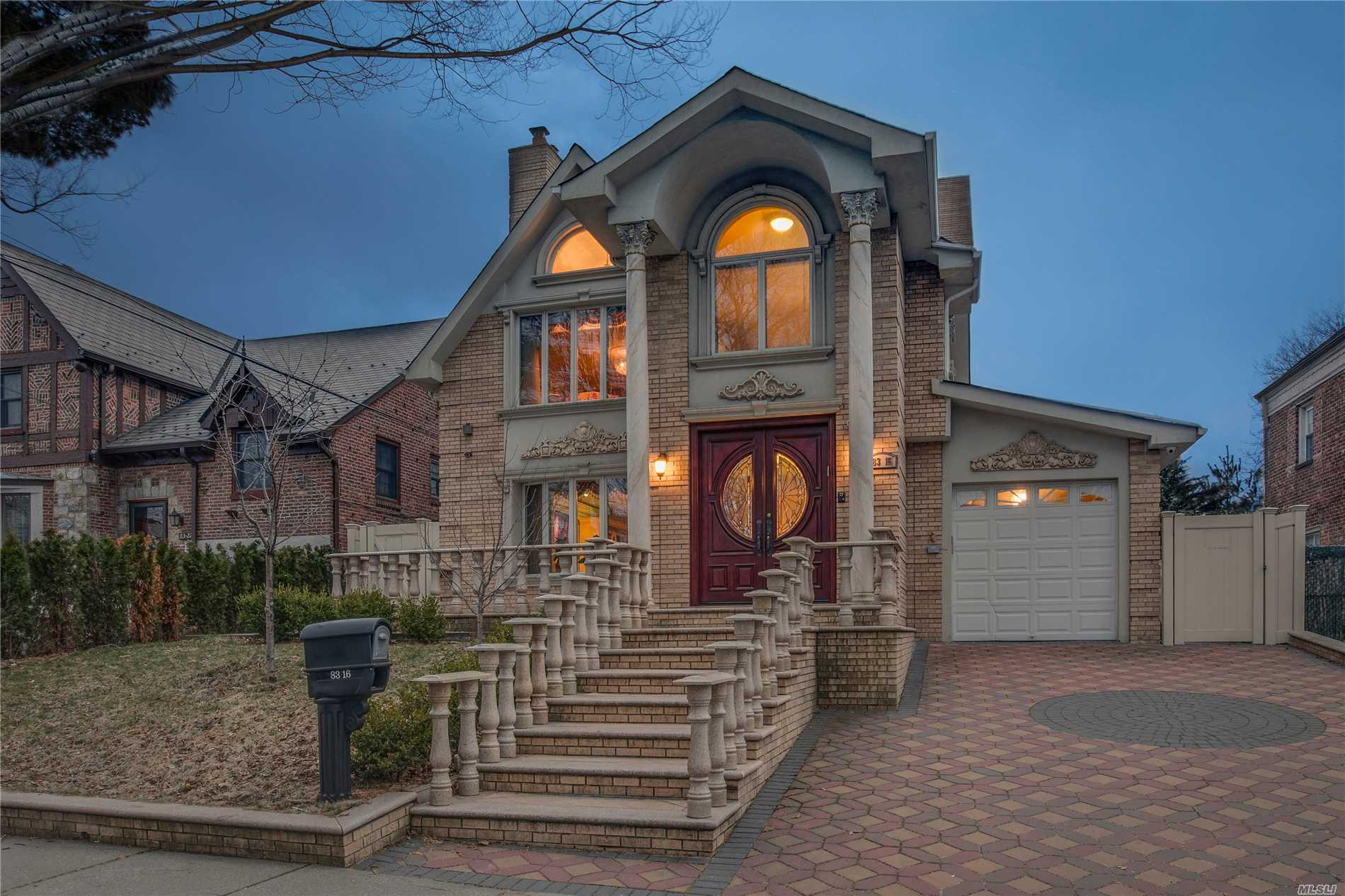 2012 Brick Colonial Crafted W/Amazing Attention To Details, Venetian Plaster Thru Out, Custom Moldings, Custom Closets & Cabinetry, Marble Wood Burning Fire Place, Radiant Heat Tile Floors, Etc. 1st Fl Features A Welcoming Foyer, Airy L/R, Formal D/R, Powder Rm, Master Suite. The Eat In Kitchen Has A Cathedral Ceiling With Skylights Center Island, Breakfast Nook And A Sliding Door Leading To A Covered Deck And Private Fenced Paved Patio. The 2nd Fl Lays A Larger Master Suite, 2 Additional B/Rs